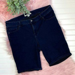 17/21 Exclusive Denim Dark Denim Shorts
